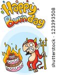 a humorous approach to birthdays | Shutterstock . vector #123393508