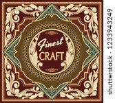 vintage decorative ornate label ...   Shutterstock .eps vector #1233943249