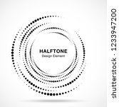 halftone vortex circle frame... | Shutterstock .eps vector #1233947200
