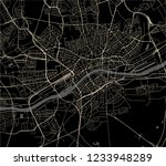 vector map of the city of... | Shutterstock .eps vector #1233948289