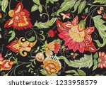 seamless pattern with stylized... | Shutterstock .eps vector #1233958579