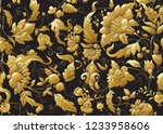 seamless pattern with stylized... | Shutterstock .eps vector #1233958606
