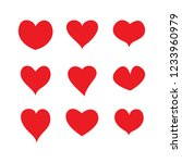 set of hearts  vector icon. | Shutterstock .eps vector #1233960979