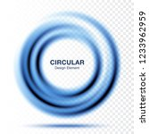 vortex gradient round banner.... | Shutterstock .eps vector #1233962959