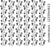 seamless black pattern on... | Shutterstock .eps vector #1233964813