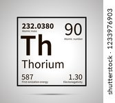 thorium chemical element with... | Shutterstock . vector #1233976903