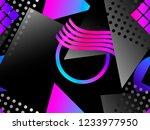 memphis seamless pattern....   Shutterstock .eps vector #1233977950