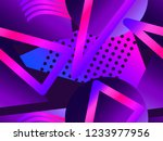 memphis seamless pattern....   Shutterstock .eps vector #1233977956