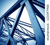 support above the bridge  steel ... | Shutterstock . vector #123397900