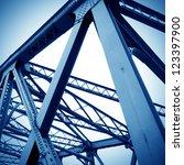 support above the bridge  steel ...   Shutterstock . vector #123397900