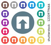 upload flat white icons on... | Shutterstock .eps vector #1233979666