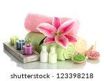 Towels With Lily  Aroma Oil  ...