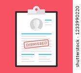 dismissal. clipboard and... | Shutterstock .eps vector #1233990220