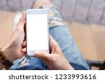 mockup cell phone blank screen... | Shutterstock . vector #1233993616