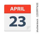 april 23   calendar icon  ...   Shutterstock .eps vector #1233997633