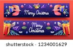 christmas greeting card with... | Shutterstock .eps vector #1234001629