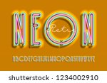 neon sign lamp font design ... | Shutterstock .eps vector #1234002910