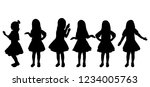 isolated girl  child silhouette ... | Shutterstock .eps vector #1234005763