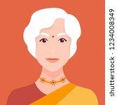 portrait of an elderly indian... | Shutterstock .eps vector #1234008349