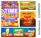 fast food cafe or restaurant... | Shutterstock .eps vector #1234009039