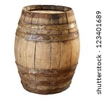 Image Of Classic Wood Barrel On ...