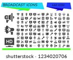 vector icons pack of 120 filled ... | Shutterstock .eps vector #1234020706