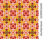 colored embroidery border.... | Shutterstock .eps vector #1234021636