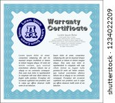 light blue warranty template.... | Shutterstock .eps vector #1234022209