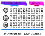 vector icons pack of 120 filled ... | Shutterstock .eps vector #1234022866