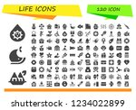 vector icons pack of 120 filled ... | Shutterstock .eps vector #1234022899