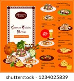 german cuisine dishes menu ... | Shutterstock .eps vector #1234025839