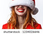 hat in the eyes of a happy...   Shutterstock . vector #1234026646