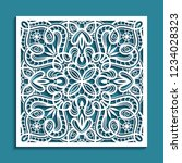 square panel with lace pattern  ... | Shutterstock .eps vector #1234028323