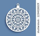 ornamental christmas ball ...   Shutterstock .eps vector #1234028329