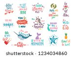set of positive inspirational... | Shutterstock .eps vector #1234034860