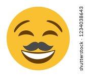mustache smiley face vector...