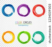 color circles. transparency | Shutterstock .eps vector #1234039303