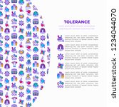 tolerance concept with thin... | Shutterstock .eps vector #1234044070