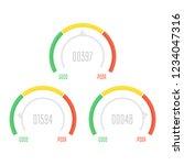 credit score indicators or... | Shutterstock .eps vector #1234047316
