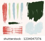 paint lines grunge collection.... | Shutterstock .eps vector #1234047376