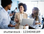 group of successful business... | Shutterstock . vector #1234048189