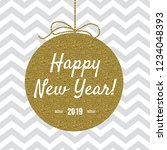 happy new year 2019 card with... | Shutterstock .eps vector #1234048393