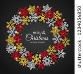 christmas background with... | Shutterstock .eps vector #1234056850