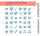 communication icons set. ui...