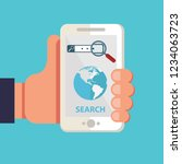 search mobile application... | Shutterstock .eps vector #1234063723