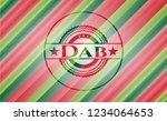 dab christmas badge background. | Shutterstock .eps vector #1234064653