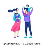 family spend time together ... | Shutterstock .eps vector #1234067296
