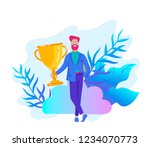 business team success hold... | Shutterstock .eps vector #1234070773