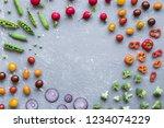 frame of fresh organic... | Shutterstock . vector #1234074229