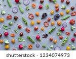 clean eating concept. fresh... | Shutterstock . vector #1234074973